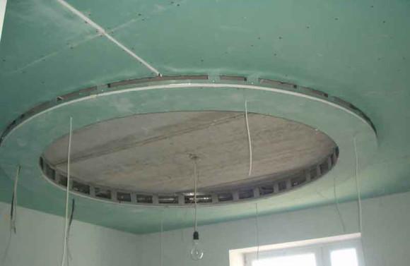 Гипсокартон влагостойкий потолочный