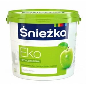 Интерьерная краска Sniezka EKO для покраски стен квартиры.