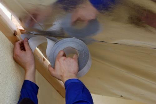 Алюминиевый скотч самоклеющийся и обычный двустронний скотч для пленок в строительном магазине Азимут - Минск.