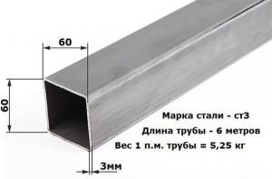 Труба профильная цена за метр 60х60 со склада в Минске.
