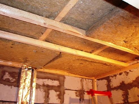 Утеплитель для саун на потолок и перекрытия. Низкие цены на все виды утеплителя самовывозом со склада.