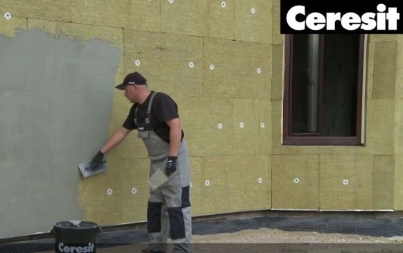 Клей фасадный армирующий для мокрого фасада. Технология монтажа сетки и армирующего слоя.
