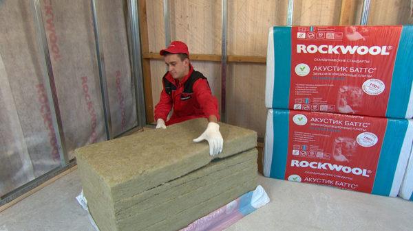 Утеплитель Роквул Акустик баттс и лайт батс в Минске со склада - купить утеплитель ROCKWOOL недорого.
