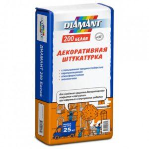 Декоративная штукатурка Диамант 200 (белая).